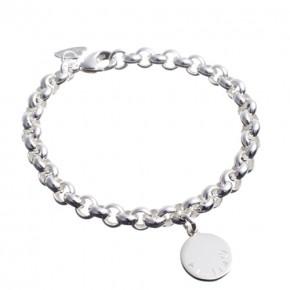 Silberarmband mit Gravurplättchen*