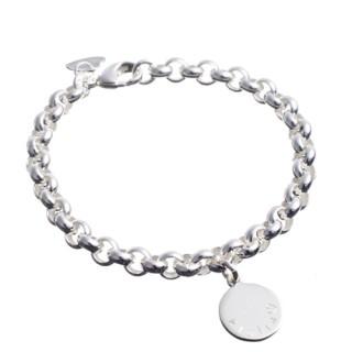 schnüren in billigsten Verkauf weit verbreitet Silberarmband mit Gravurplättchen* | Glanzreich