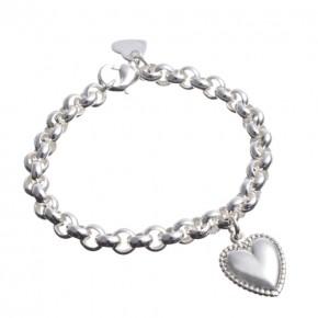 Silberarmband mit Herz