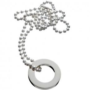 Silberring an dicker Silberkette