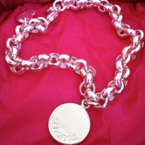 Bettelarmband Silber 1 Gravurplakette Johanna