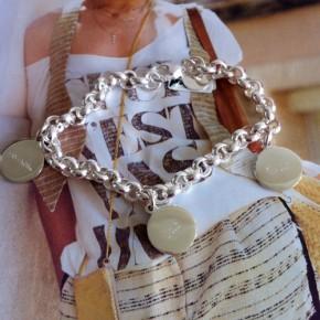 Bettelarmband Glaube Liebe Hoffnung 3 Plaketten graviert Silber