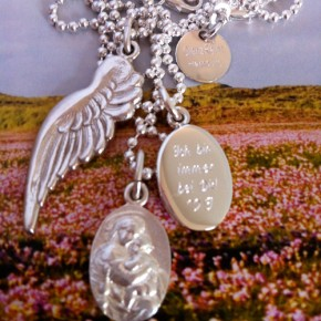 Flügel, Madonna, Schutzheilige, Gravur Silber