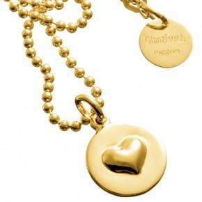 Herz der Liebe vergoldet