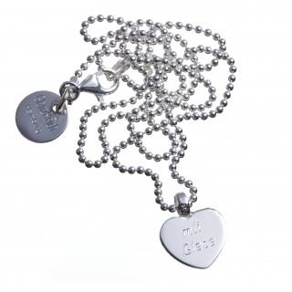Herzengel, Silber, graviert, Schutzengel Taufgeschenk
