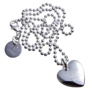 gewölbtes Silberherz mit Gravur, graviert, personalisiert, Liebe, Herz