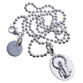 Schutzheilige / Madonna mit Gravur, Silber