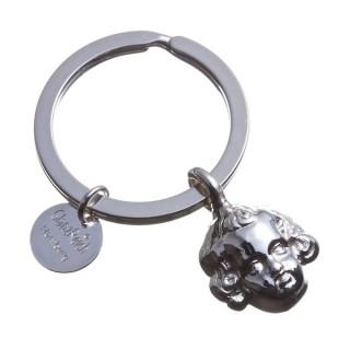 Schlüsselring mit Schutzengel / Putte, Silber