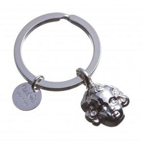 Schlüsselring mit Schutzengel, Silber